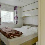 Location Lodge Résidentiel camping Vendée : chambre parents